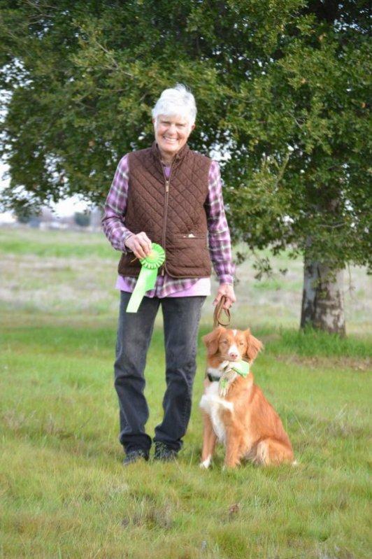 Laurie Rossi Sherick and Nova Scotia Duck Tolling Retreiver